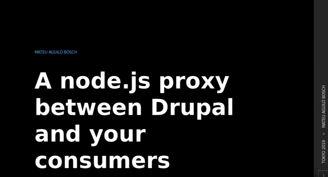 A node.js proxy between Drupal and your consumers